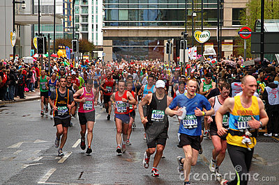 London Flora Marathon Editorial Stock Image