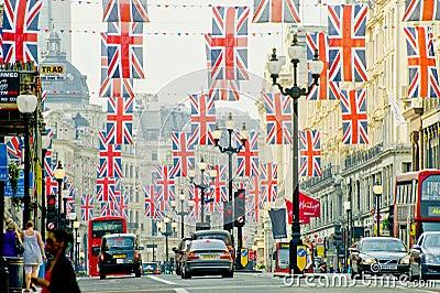 London gata Redaktionell Arkivfoto