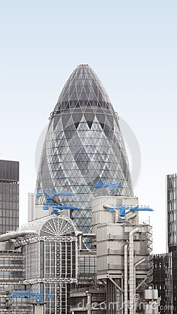 London Gherkin Editorial Stock Photo