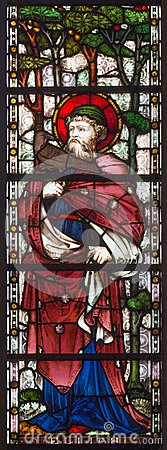 Free LONDON, GREAT BRITAIN - SEPTEMBER 19, 2017: The Prophet Elijah On The Stained Glass In St Mary Abbot`s Church Royalty Free Stock Image - 106777496