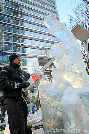London Ice Sculpting Festival 2012 Editorial Image