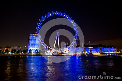 LONDON - JUNE 16: London Eye on June 16, 2012 Editorial Image