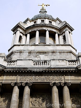 London landmarks: Old Bailey criminal court