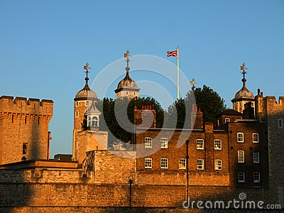 London landmarks: Tower of London at sunset