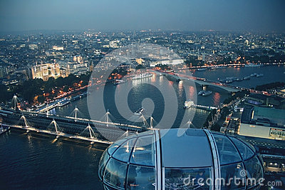 London from London Eye Editorial Stock Image