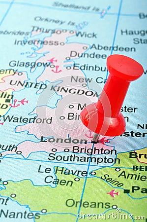 London in map