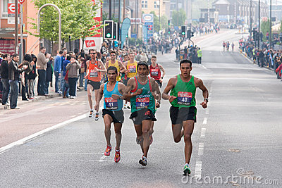 London marathon 2011- Elite men athletes Editorial Image