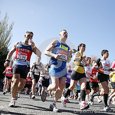 London Marathon, 2012 Editorial Stock Photo