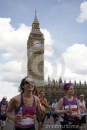 London Marathon, 2012 Editorial Stock Image
