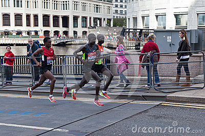 London Marathon 2012 - Kipsang, Lilesa, Kirui Editorial Photo