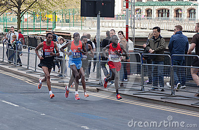 London Marathon 2012 - Lel, Mutai, Tsegay, Worku Editorial Photo