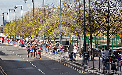 London Marathon 2012 - Lel, Mutai, Tsegay, Worku Editorial Image