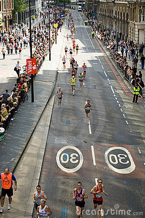 London Marathon Editorial Image