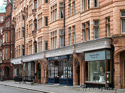 London, Mayfair District Shops Editorial Photo