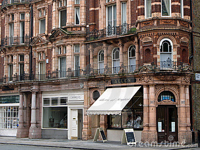 London, Mayfair District Shops Editorial Stock Image