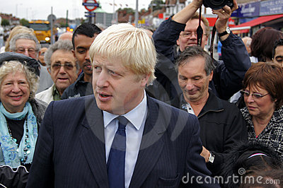 London Mayor Boris Johnson Editorial Stock Photo