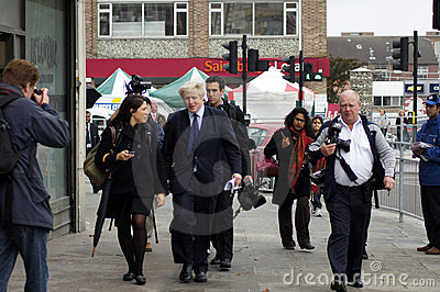 London Mayor Boris Johnson Editorial Stock Image