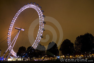 London Millennium Eye at night Editorial Photo