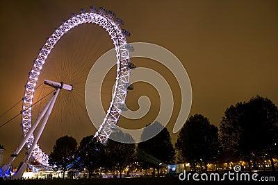 London Millennium Eye at night Editorial Photo