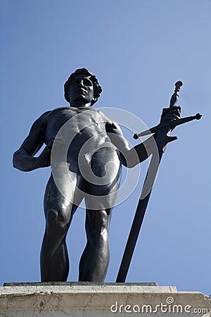 London - mythology statue in the park