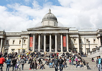 London - National Gallery Editorial Stock Photo