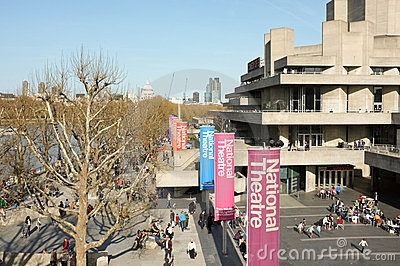 London National Theatre Editorial Stock Image
