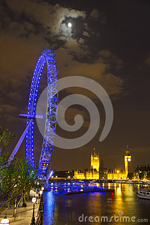 London by night Editorial Stock Image