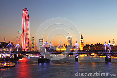 London at night Editorial Photography
