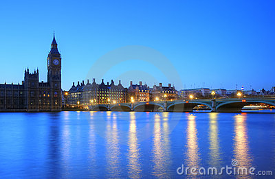 London night skyline of Parliament Big Ben