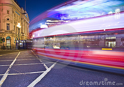 London A night view of Bus