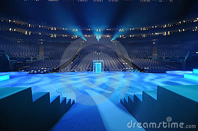 The London O2 Arena stage Editorial Stock Photo