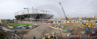 London Olympic Construction Site Panoramic Editorial Image