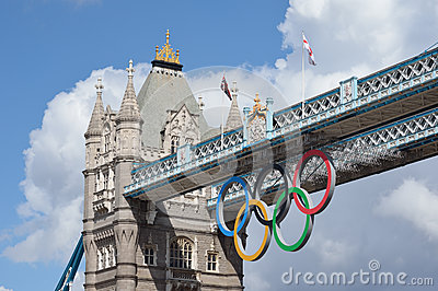 London Olympic Rings Editorial Stock Image