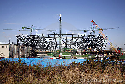London Olympic Stadium under construction Editorial Photo