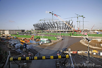 London Olympic Stadium under construction Editorial Stock Image