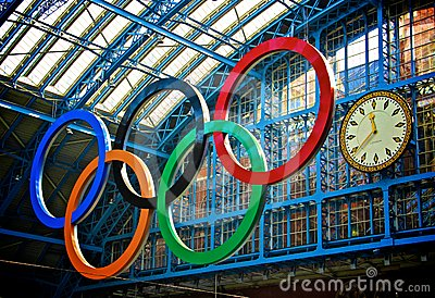 London Olympics 2012 Countdown Editorial Stock Image