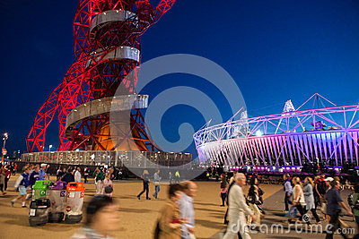 LONDON OLYMPICS 2012 STADIUM Editorial Photo