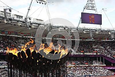 London 2012 Olympics cauldron Editorial Stock Photo