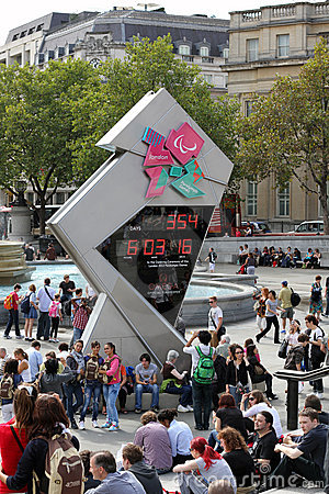 London Olympics Countdown Clock Editorial Image
