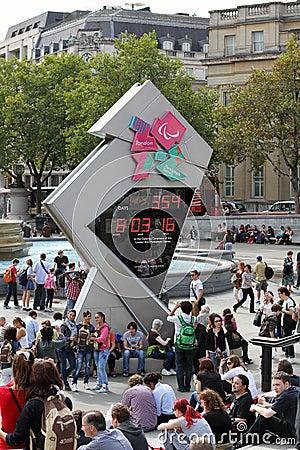 London Olympics Countdown Clock Editorial Image