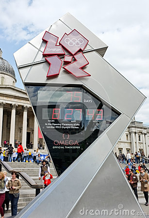 London Olympics Countdown Clock Editorial Stock Image