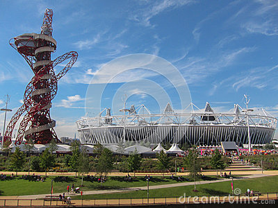 London Olympics Games 2012 Arcelor Mittal Tower an Editorial Photo