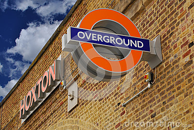 London Overground, Hoxton station Editorial Image