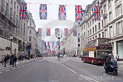 London Oxford street scene Editorial Stock Image