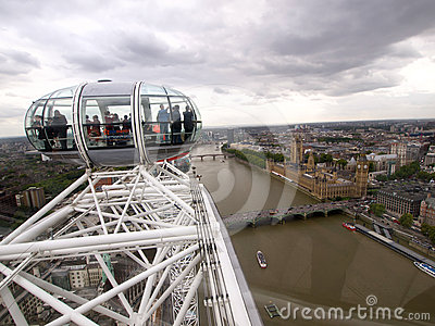 London panoramic view from London Eye Editorial Photography