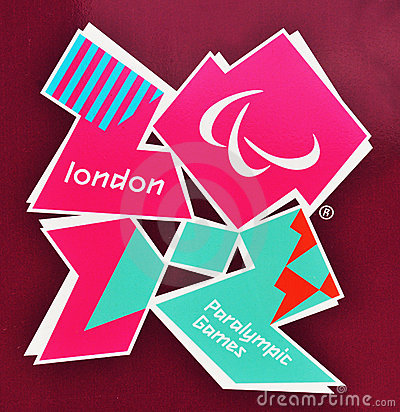 London paralympics 2012 Redaktionell Arkivbild