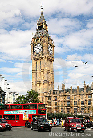 London Parliament and traffic Editorial Photography