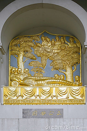 London Peace Pagoda Detail