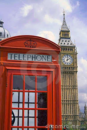 Free London Phone Booth/big Ben Royalty Free Stock Images - 2586629
