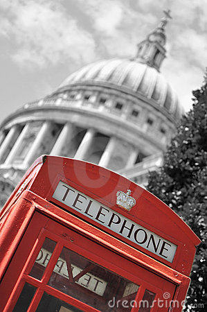 London phone box and St Paul s